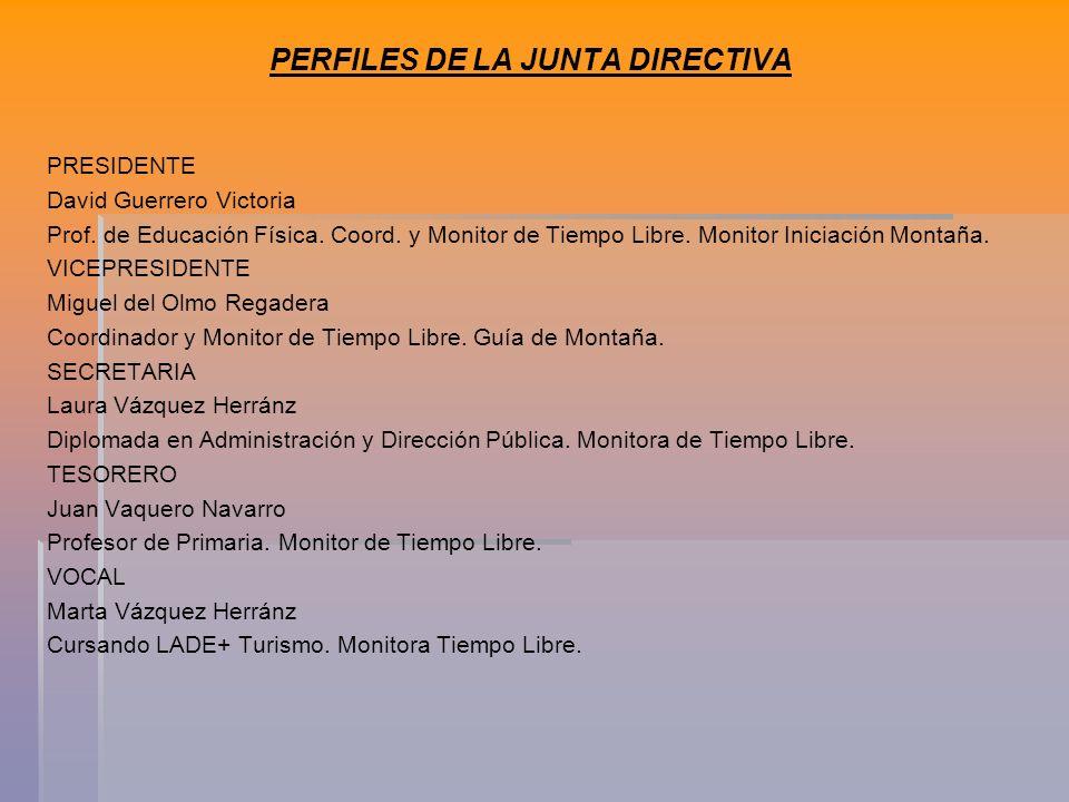 PERFILES DE LA JUNTA DIRECTIVA