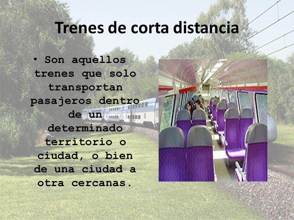 Trenes de corta distancia