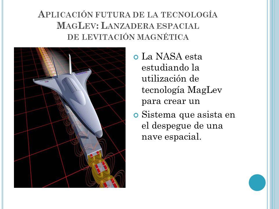 Aplicación futura de la tecnología MagLev: Lanzadera espacial de levitación magnética