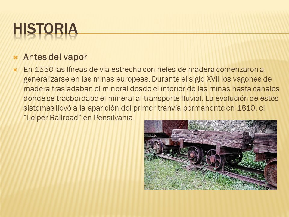 Historia Antes del vapor