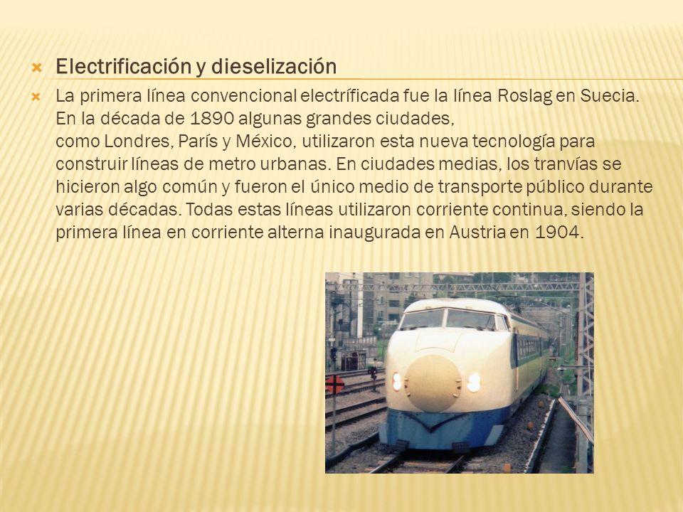 Electrificación y dieselización