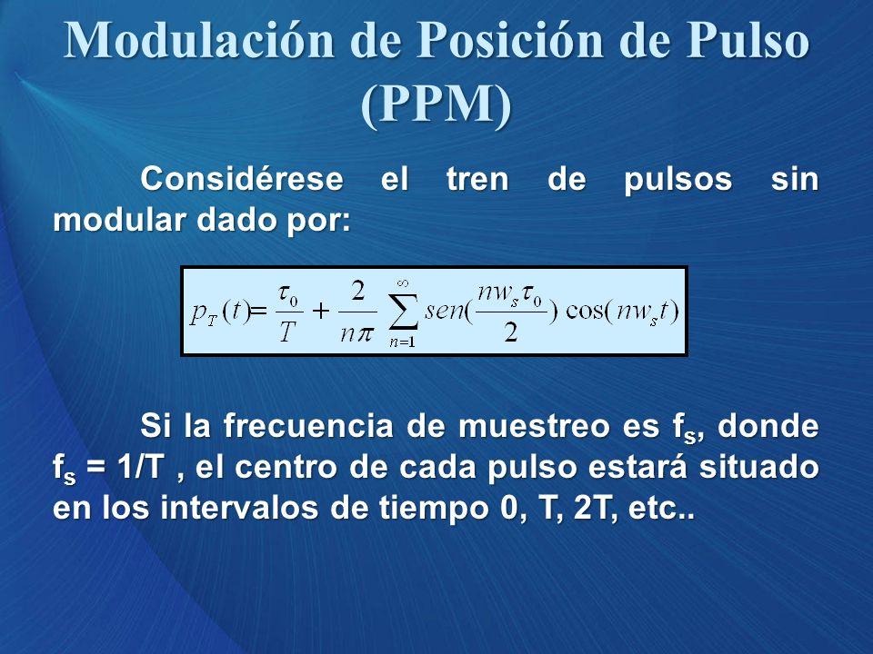 Modulación de Posición de Pulso (PPM)