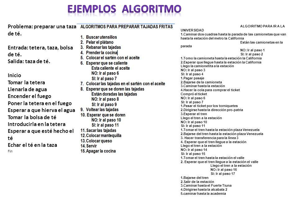 EJEMPLOS algoritmo