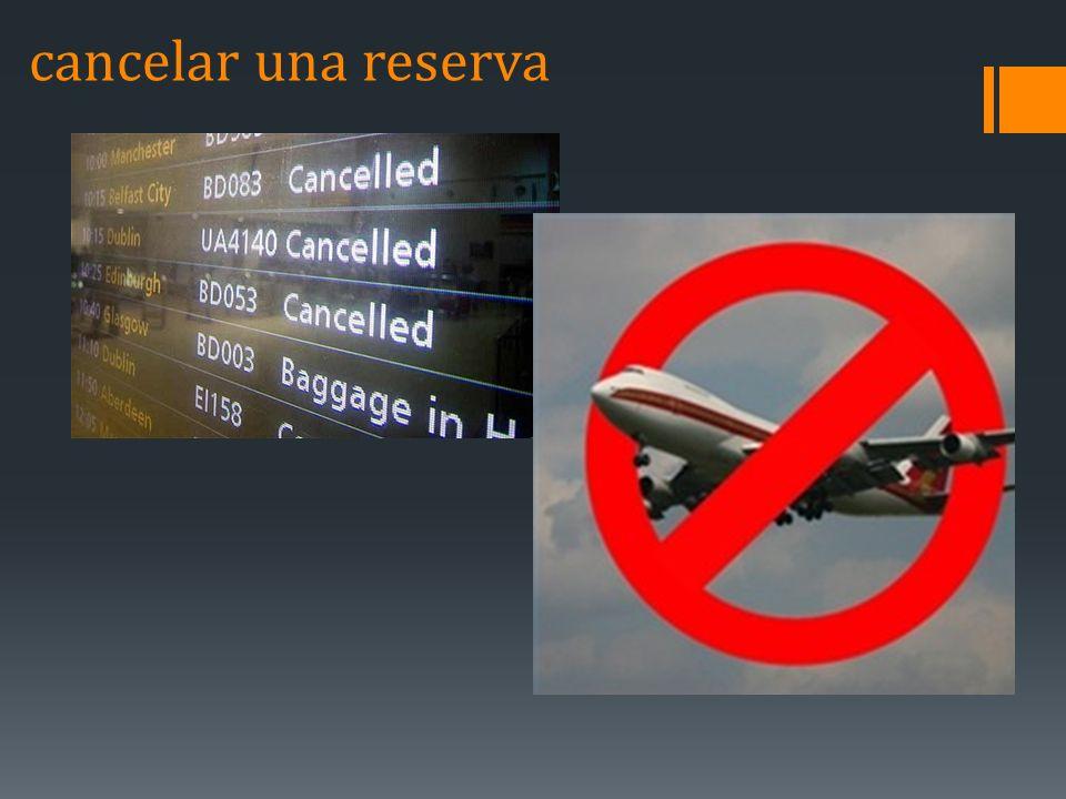 cancelar una reserva