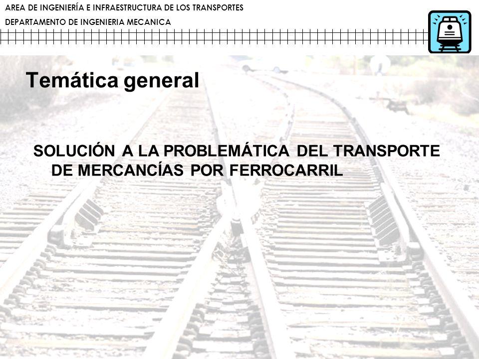 Temática general SOLUCIÓN A LA PROBLEMÁTICA DEL TRANSPORTE DE MERCANCÍAS POR FERROCARRIL