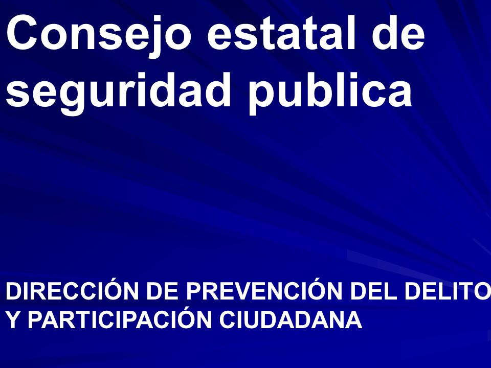 Consejo estatal de seguridad publica