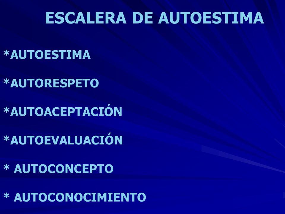 ESCALERA DE AUTOESTIMA