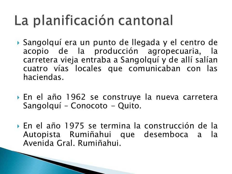 La planificación cantonal