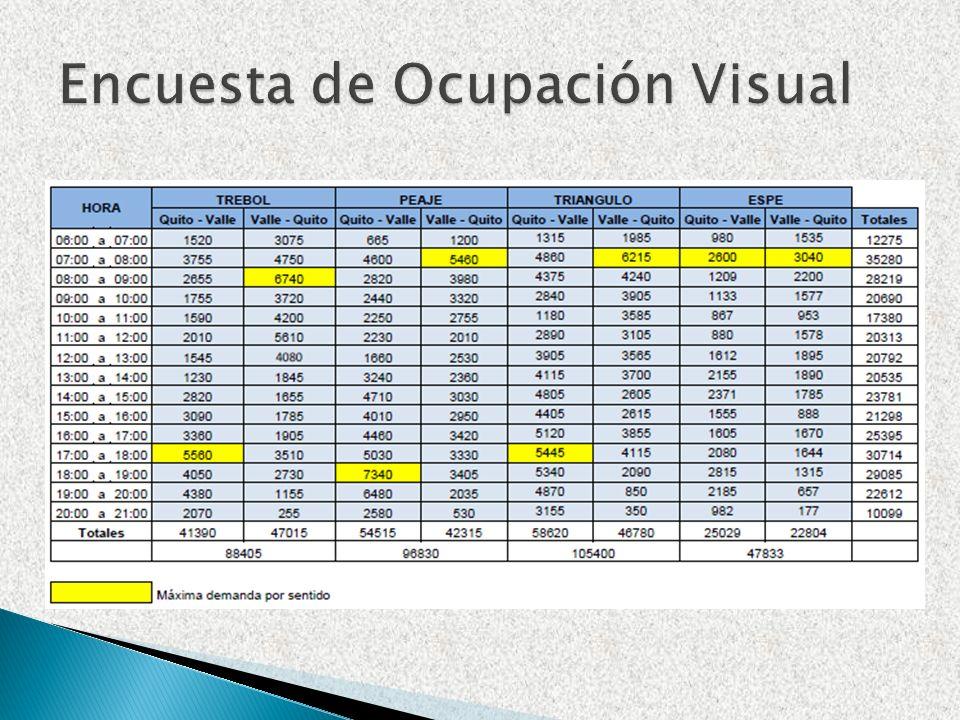 Encuesta de Ocupación Visual