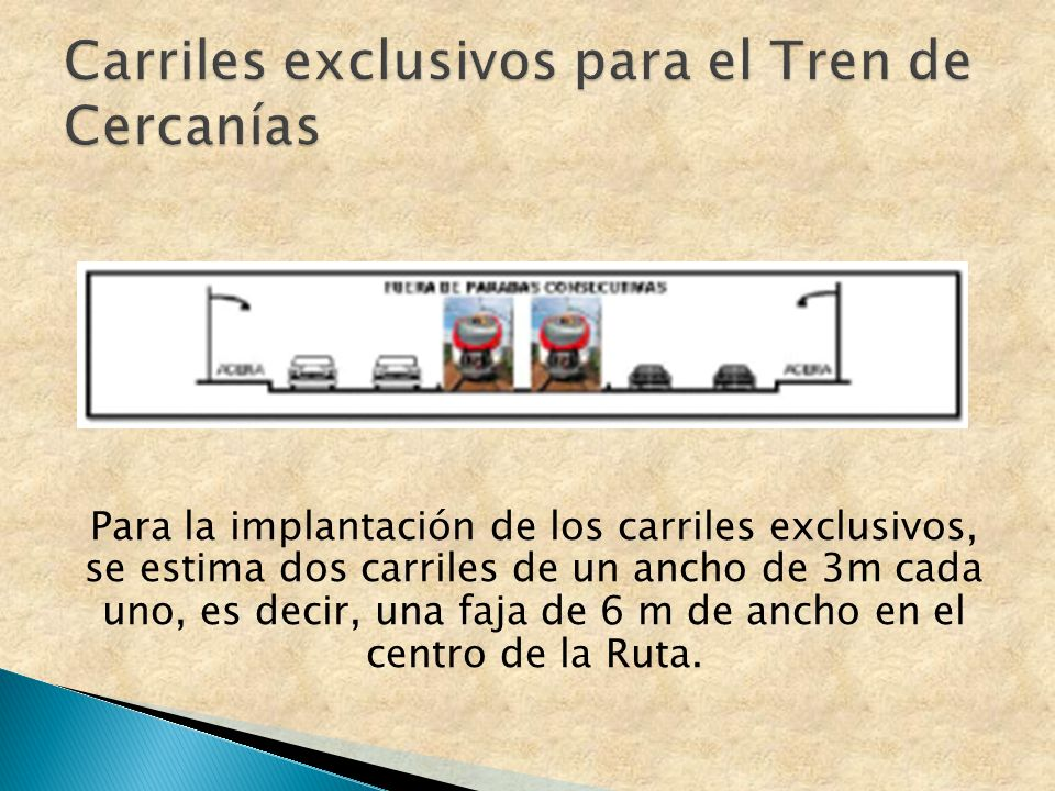 Carriles exclusivos para el Tren de Cercanías