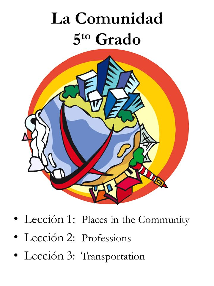 La Comunidad 5to Grado Lección 1: Places in the Community