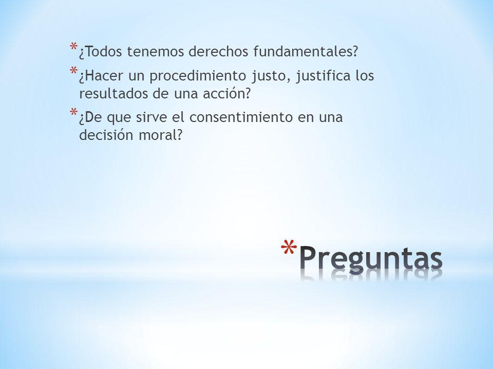 Preguntas ¿Todos tenemos derechos fundamentales