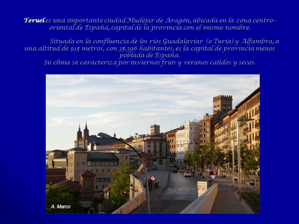 Teruel es una importante ciudad Mudéjar de Aragón, ubicada en la zona centro–oriental de España, capital de la provincia con el mismo nombre.