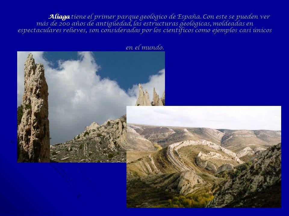 Aliaga tiene el primer parque geológico de España