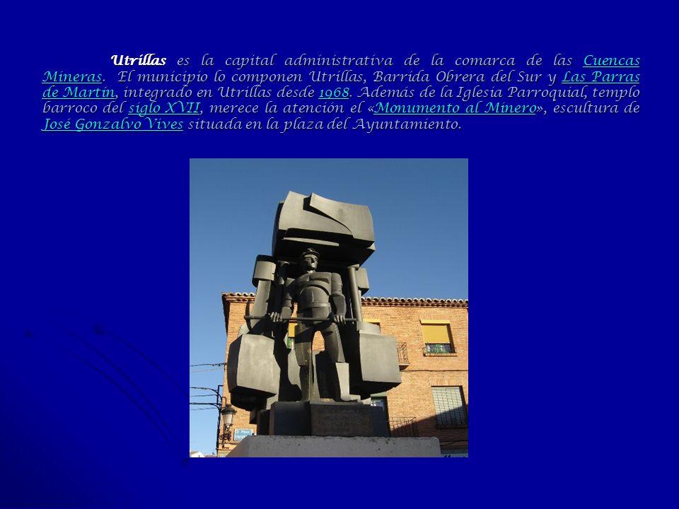 Utrillas es la capital administrativa de la comarca de las Cuencas Mineras.