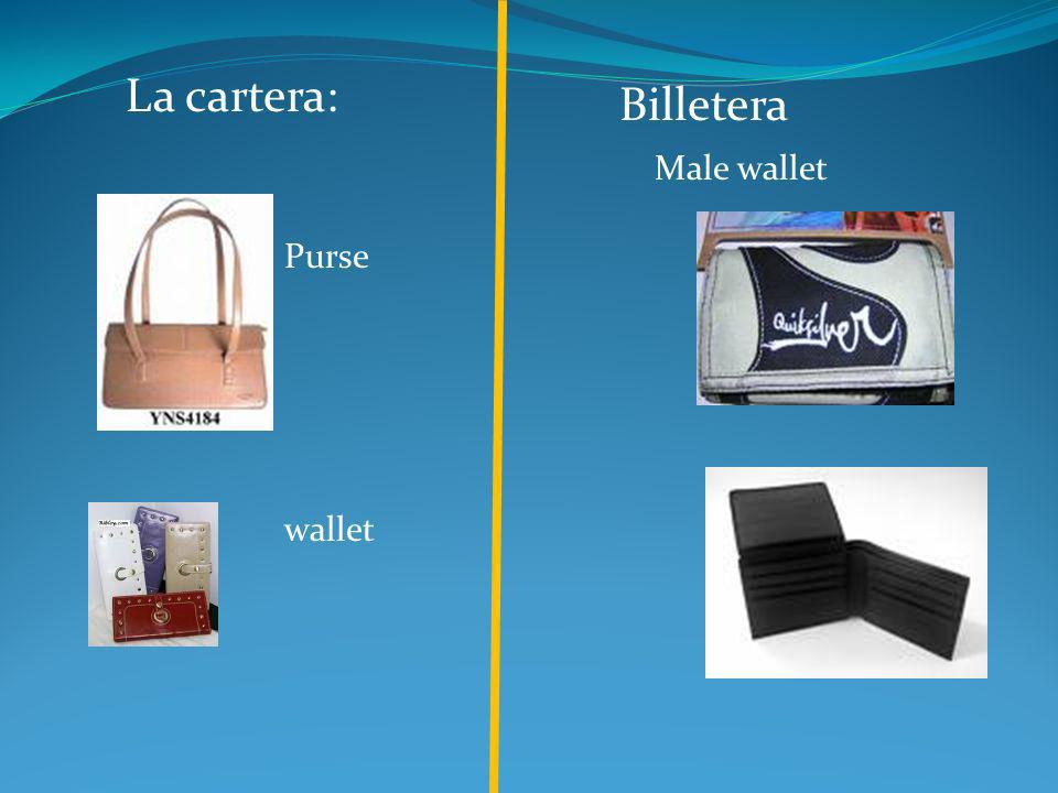 La cartera: Billetera Male wallet Purse wallet