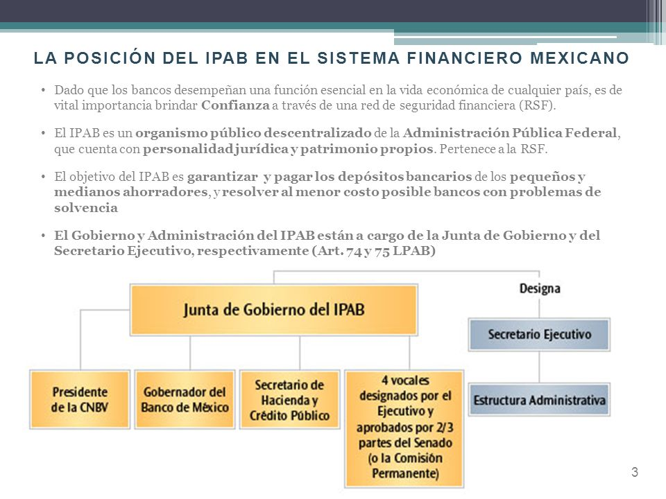 LA POSICIÓN DEL IPAB EN EL SISTEMA FINANCIERO MEXICANO