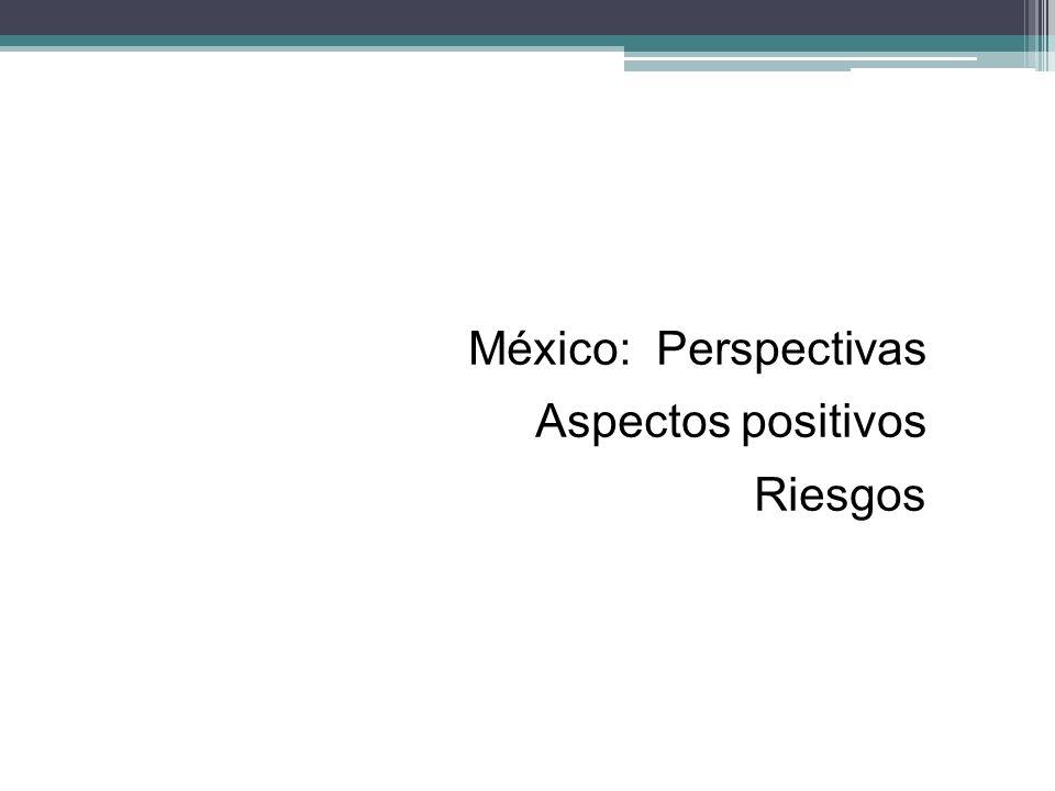 México: Perspectivas Aspectos positivos Riesgos