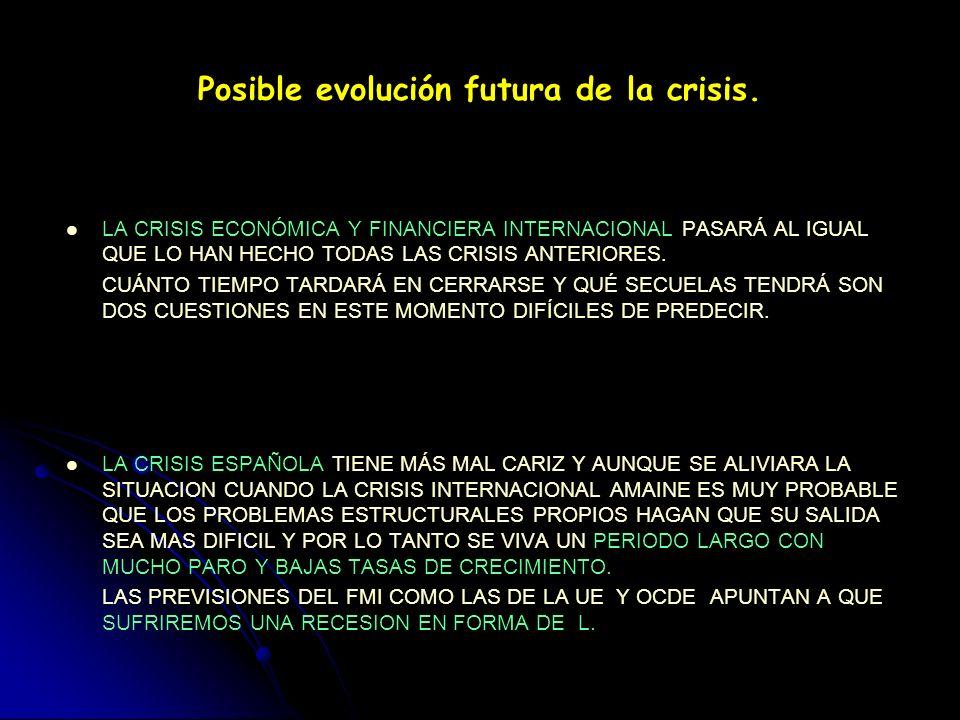 Posible evolución futura de la crisis.