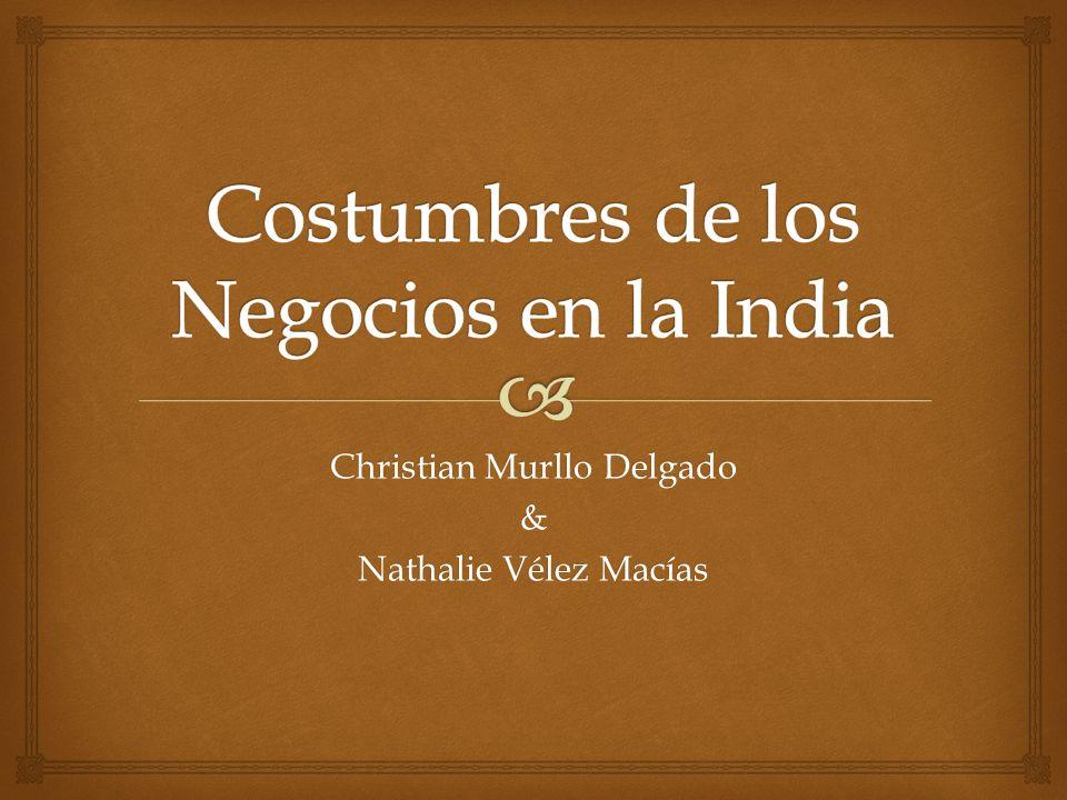 Costumbres de los Negocios en la India