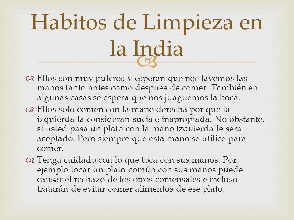 Habitos de Limpieza en la India