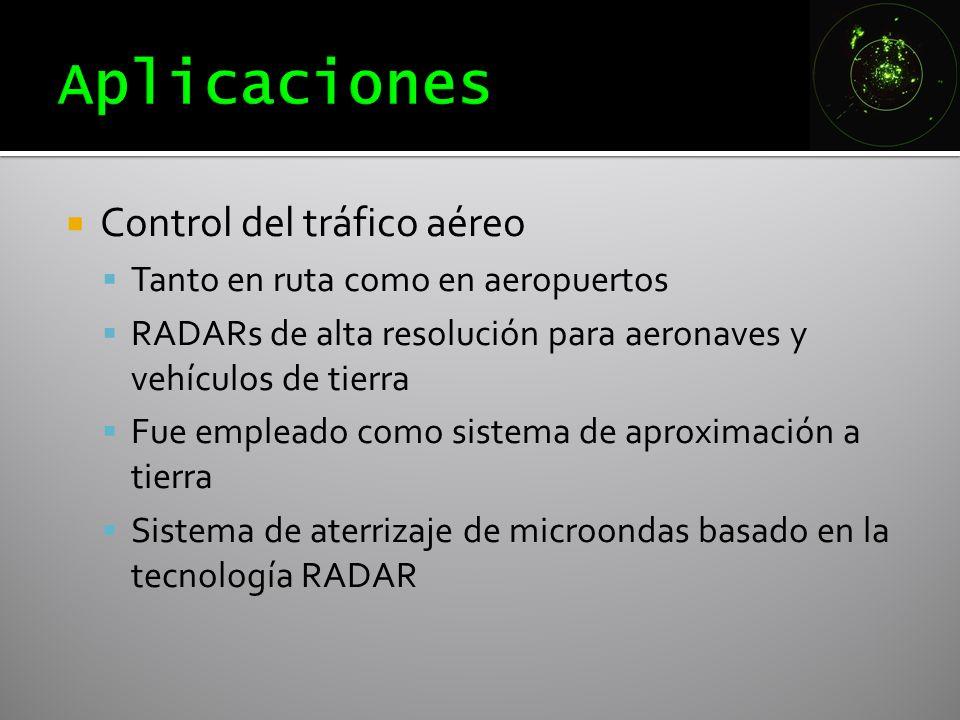 Aplicaciones Control del tráfico aéreo