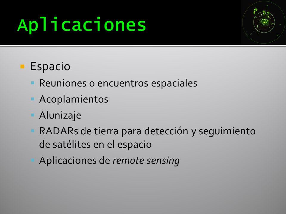 Aplicaciones Espacio Reuniones o encuentros espaciales Acoplamientos