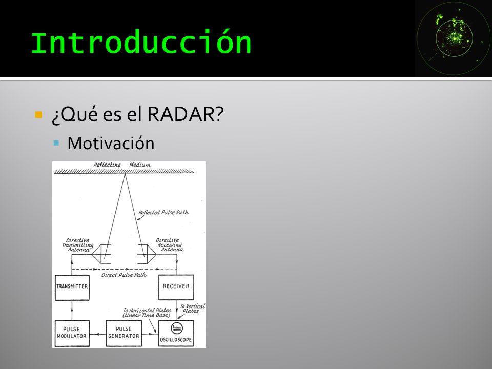 Introducción ¿Qué es el RADAR Motivación