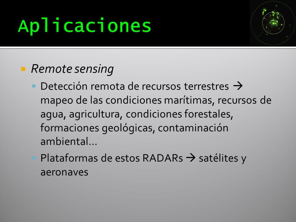 Aplicaciones Remote sensing