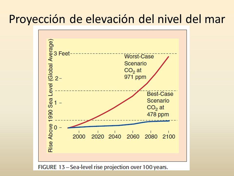 Proyección de elevación del nivel del mar