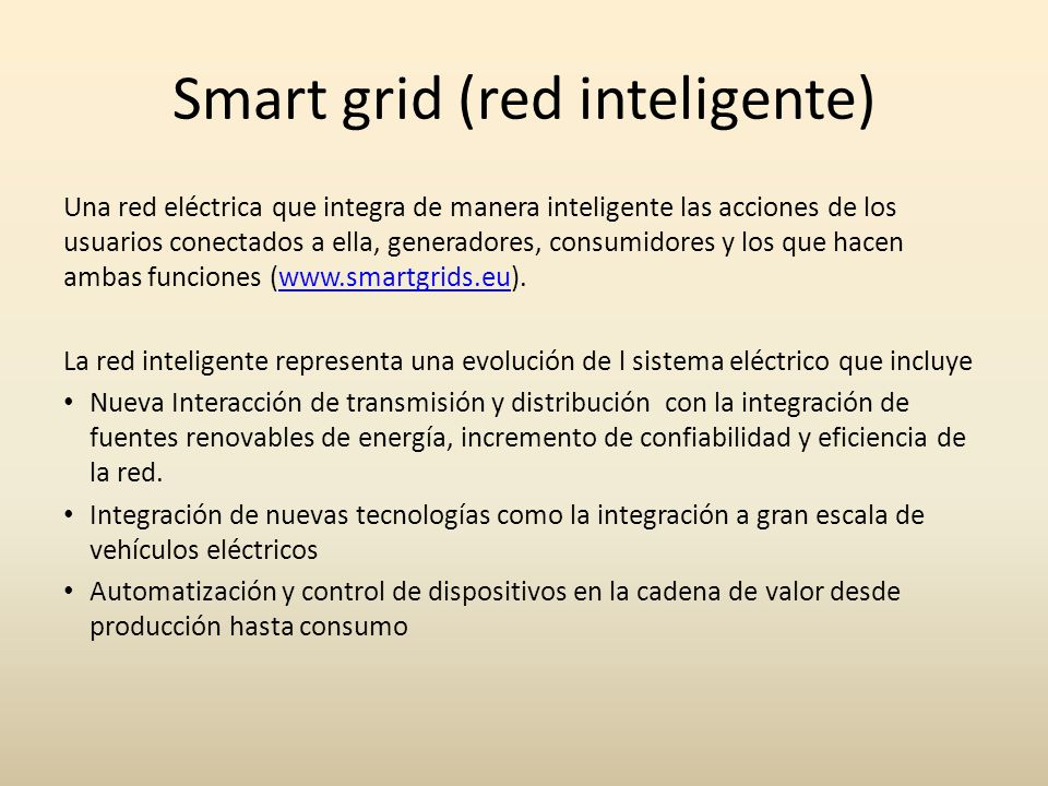 Smart grid (red inteligente)
