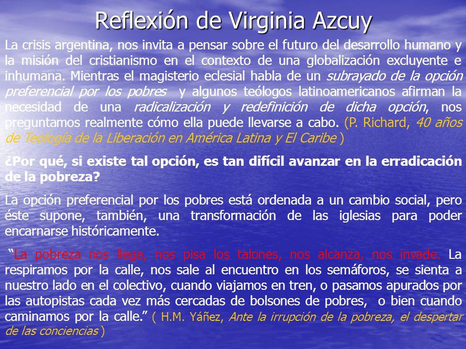 Reflexión de Virginia Azcuy