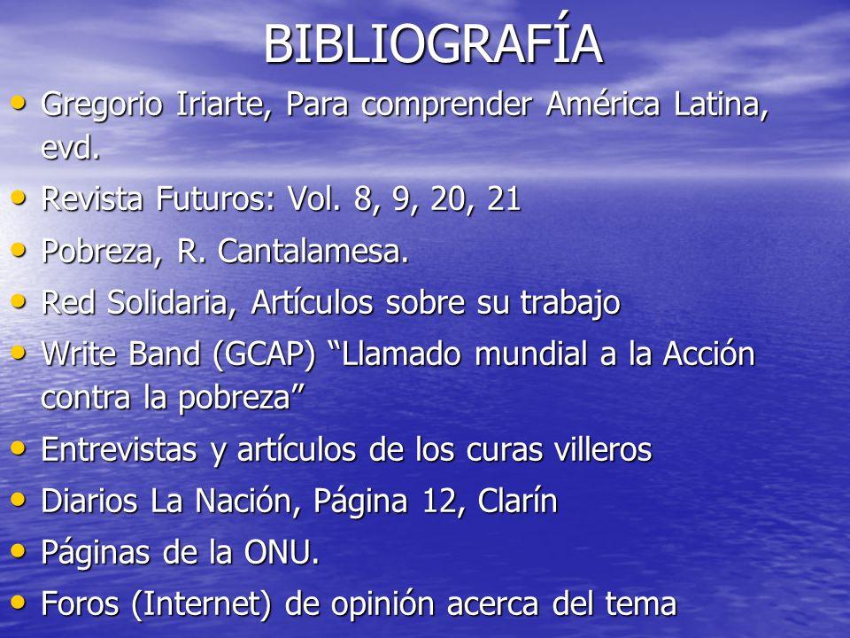 BIBLIOGRAFÍA Gregorio Iriarte, Para comprender América Latina, evd.