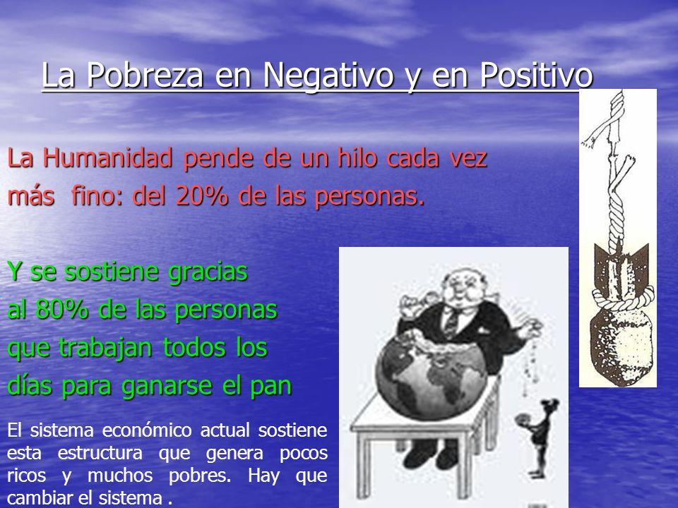 La Pobreza en Negativo y en Positivo