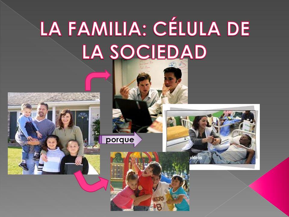 LA FAMILIA: CÉLULA DE LA SOCIEDAD