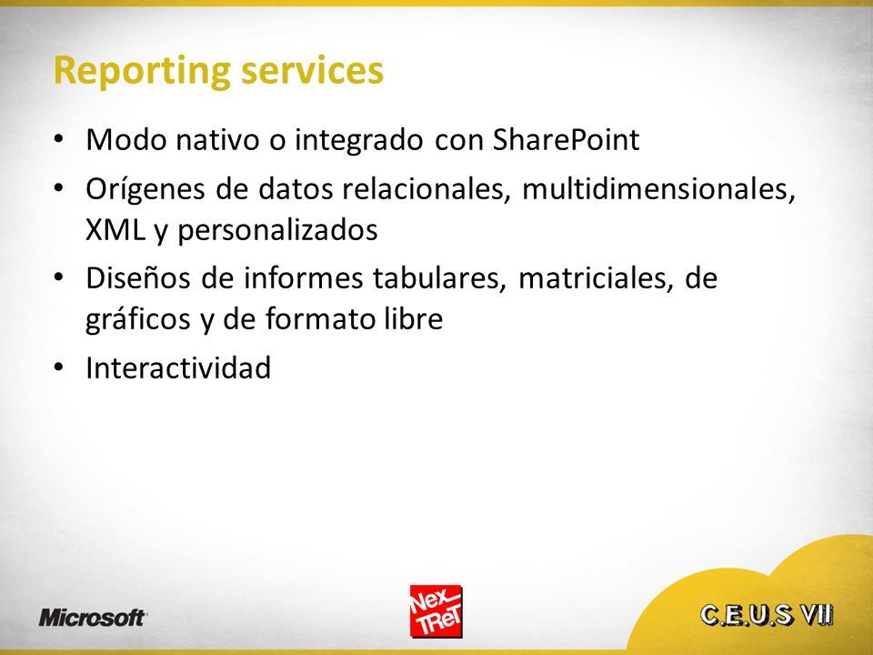 Reporting services Modo nativo o integrado con SharePoint