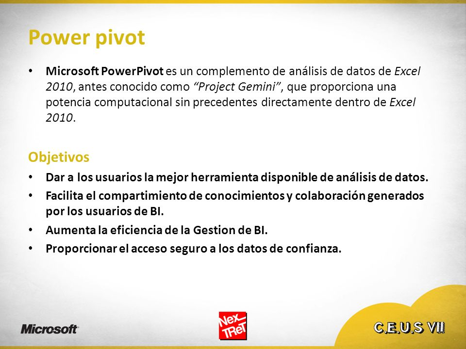Power pivot