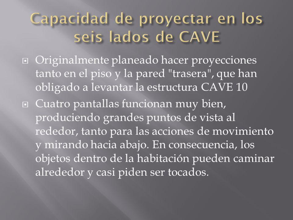 Capacidad de proyectar en los seis lados de CAVE