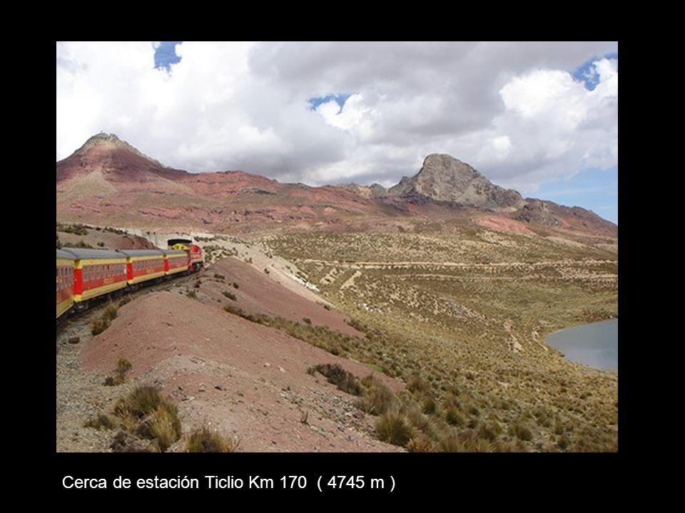 Cerca de estación Ticlio Km 170 ( 4745 m )