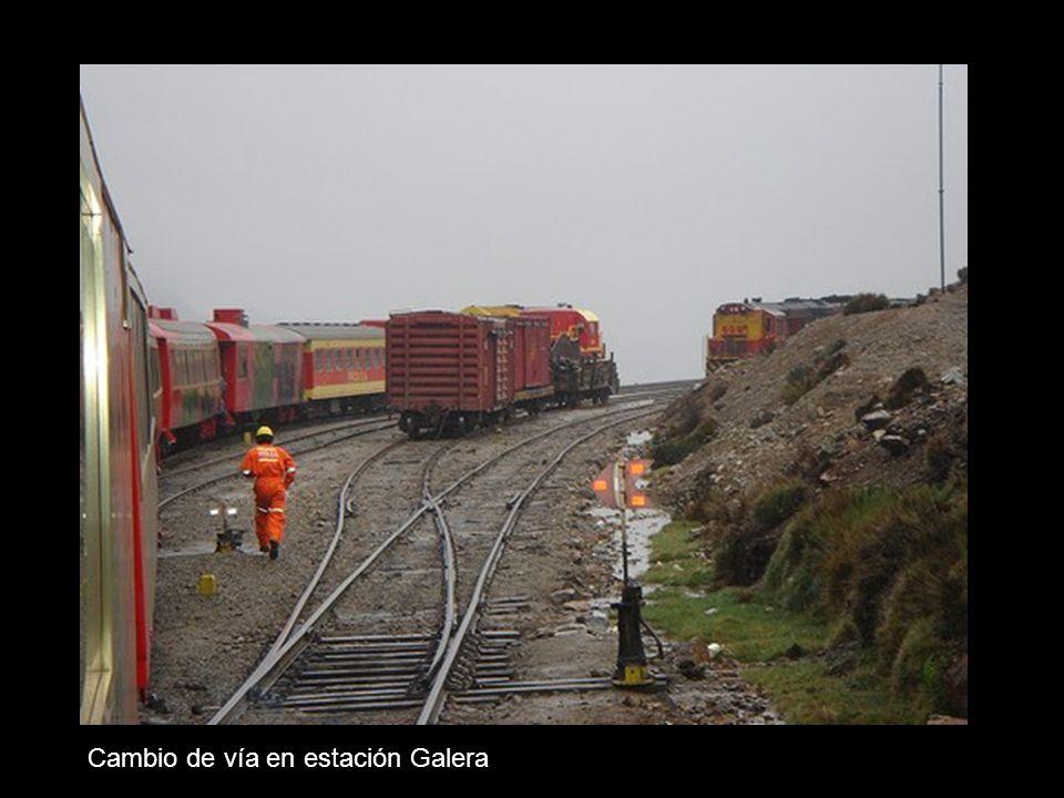 Cambio de vía en estación Galera