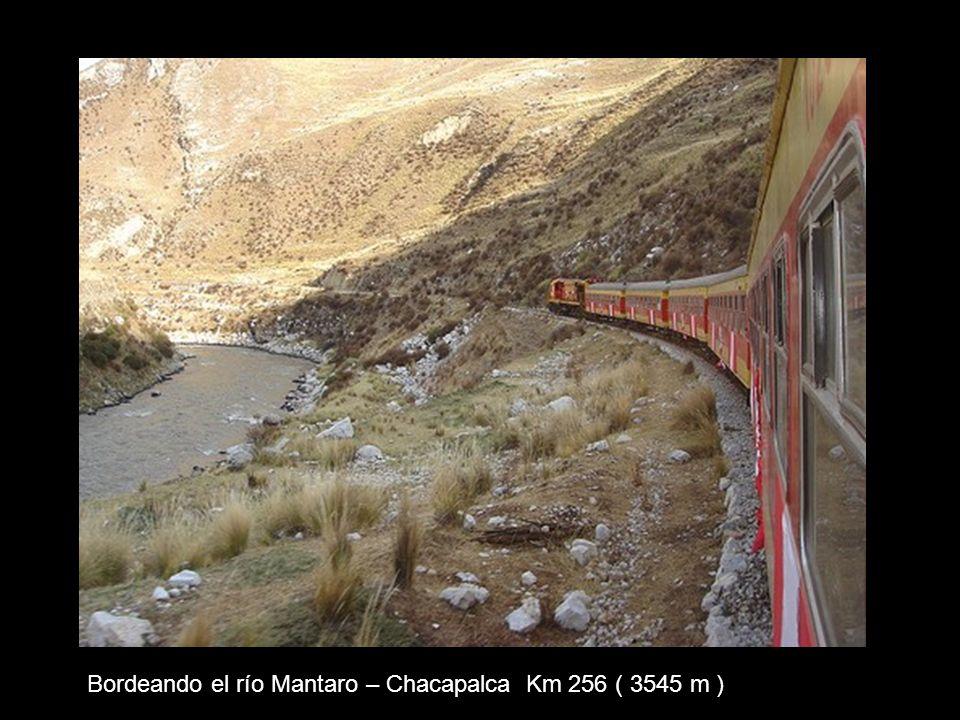 Bordeando el río Mantaro – Chacapalca Km 256 ( 3545 m )