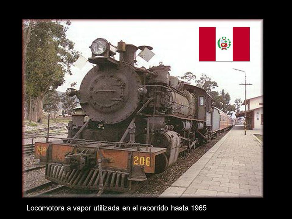 Locomotora a vapor utilizada en el recorrido hasta 1965