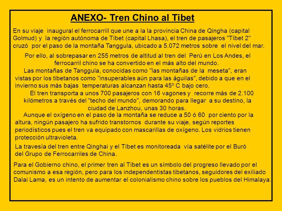 ANEXO- Tren Chino al Tibet
