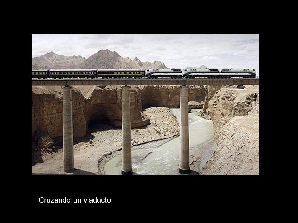 Cruzando un viaducto