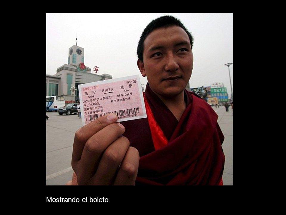 Mostrando el boleto