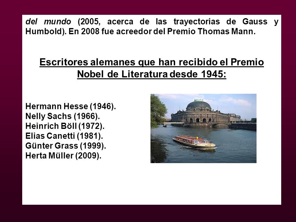 del mundo (2005, acerca de las trayectorias de Gauss y Humbold)