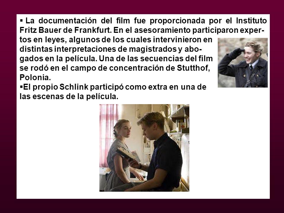 La documentación del film fue proporcionada por el Instituto Fritz Bauer de Frankfurt. En el asesoramiento participaron exper-