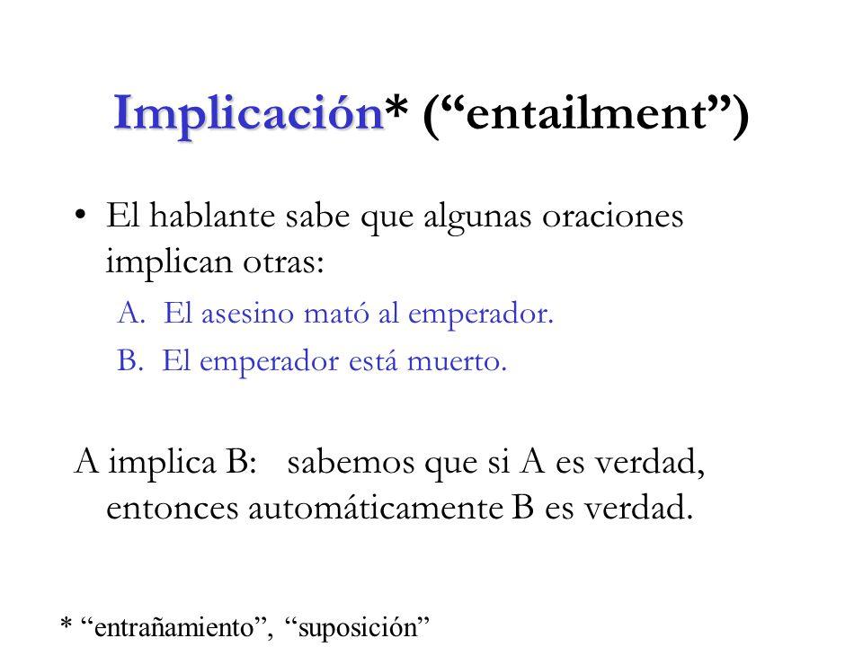 Implicación* ( entailment )
