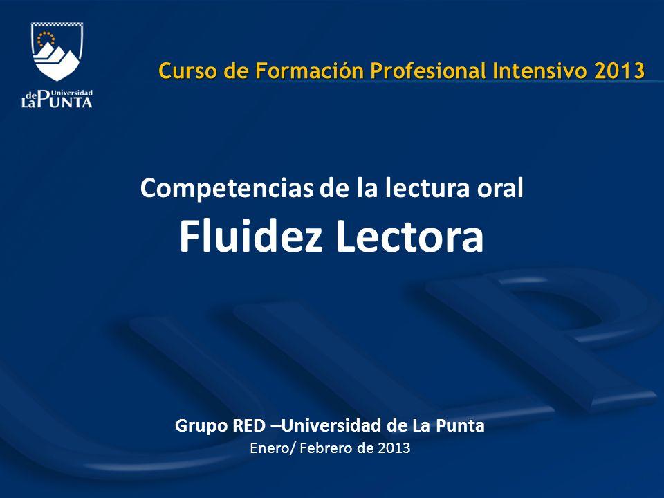 Grupo RED –Universidad de La Punta Enero/ Febrero de 2013