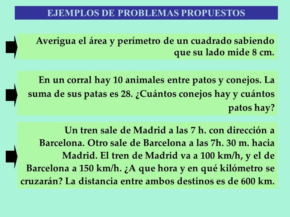 EJEMPLOS DE PROBLEMAS PROPUESTOS